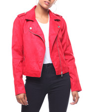 Outerwear - Faux Leather Moto Jacket-2241765