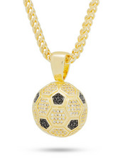 King Ice - 14K Gold Soccer Ball Necklace-2241918