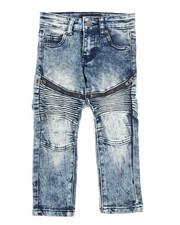 Arcade Styles - Stretch Moto Zip Jeans (2T-4T)-2242733