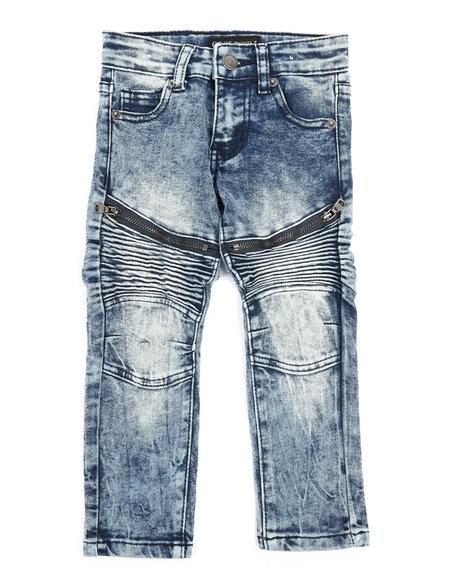 Arcade Styles - Stretch Moto Zip Jeans (2T-4T)