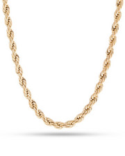 "King Ice - 6MM 14K Gold Stainless Steel Rope Chain (24"")-2241924"