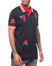 Short-Sleeve - ROSE EMBROIDERED POLO SHIRT-2243848