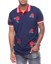 Short-Sleeve - ROSE EMBROIDERED POLO SHIRT-2243834