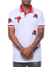 Short-Sleeve - ROSE EMBROIDERED POLO SHIRT-2243827