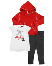 Sizes 2T-4T - Toddler - 3 Piece Act Like A Girl Set (2T-4T)-2243412