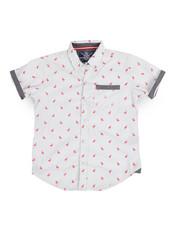 Tops - Flamingo All Over  Print Woven (8-20)-2244320