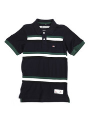 Tops - Stripe Taped Polo (8-20)-2244240