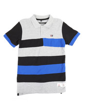 Tops - Cut & Sewn Stripe Polo (8-20)-2244260