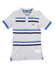 Tops - Stripe Taped Polo (8-20)-2244245