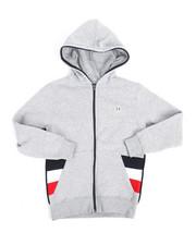 Hoodies - Color Block Fleece Full Zip Hoodie (8-20)-2244446