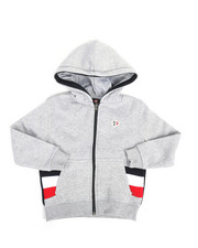 Hoodies - Color Block Fleece Full Zip Hoodie (4-7)-2244460