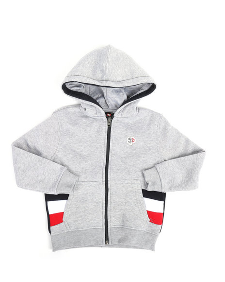 Southpole - Color Block Fleece Full Zip Hoodie (4-7)