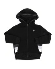 Hoodies - Color Block Fleece Full Zip Hoodie (4-7)-2244465