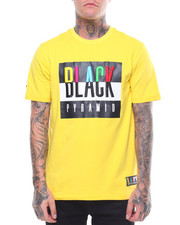 Men - BLACK PYRAMID EMBROID TEE-2244966