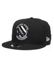 New Era - 9Fifty Golden State Warriors Tilted Lines Snapback Hat-2244641