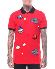 Men - UFO & SATURN CHENILLE PATCH POLO-2245164