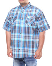 Button-downs - S/S Yarn Dyed Plaid Woven (B&T)-2245557