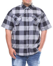 Button-downs - S/S Yarn Dyed Plaid Woven (B&T)-2245549