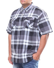 Button-downs - S/S Yarn Dyed Plaid Woven (B&T)-2245545