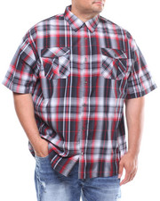 Button-downs - S/S Yarn Dyed Plaid Woven (B&T)-2245574