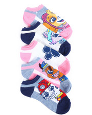 DRJ SOCK SHOP - 5 Pack Paw Patrol No Show Socks-2245335