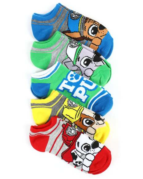 DRJ SOCK SHOP - 5 Pack Paw Patrol No Show Socks