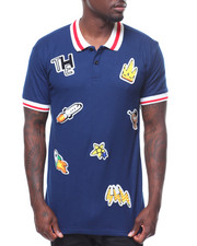 Shirts - SPACESHIP CHENILLE PATCH POLO-2245729