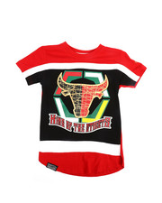 Boys - Bull Color Block Tee w/HD Foil Print (4-7)-2244680