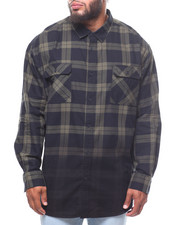 Button-downs - S/S Dip Dyed Check Shirt (B&T)-2244451