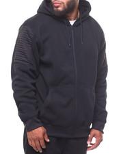 Light Jackets - Biker Full Zip Fleece Hoodie (B&T)-2245890