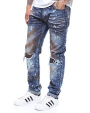 Buyers Picks - Distressed Dirt Rinsed Jean w Paint Splatter-2246165