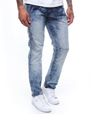 Buyers Picks - Taper Fit Stone Wash Seamed Moto Jean-2246322