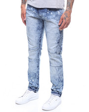 Buyers Picks - Taper Fit Stone Wash Seamed Moto Jean-2246386