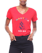 Womens-Fall - S/S Nautica V-Neck Tee-2246679