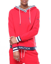 Womens-Fall - Sueded Fleece Pullover Hoodie/Taped Bottom-2246704