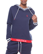 Womens-Fall - Sueded Fleece Pullover Hoodie/Taped Bottom-2246694
