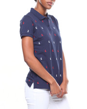 Nautica - All Over Print Pique Polo-2246669