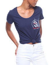 Tops - S/S Nautica Left Chest V-Neck Tee-2246468