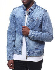 Members Only - Denim Iconic Racer Jacket-2247311