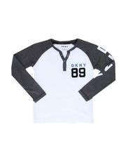DKNY Jeans - Long Sleeve Color Block Henley (8-20)-2246358