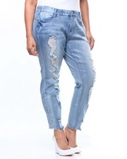 Bottoms - Tummy Toner Destructed Skinny Jean (Plus)-2084956