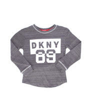 Boys - DKNY Long Sleeve Art Tee (4-7)-2246116