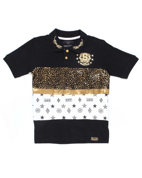 SWITCH - Color Block Foil Printed Polo (8-20)