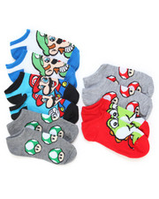 DRJ SOCK SHOP - Nintendo Super Mario 5 Pack No Show Socks-2246545