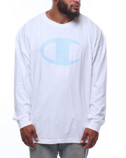 Champion - L/S Large Chest Logo Tee (B&T)-2247154