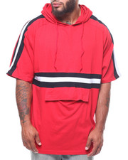 Buyers Picks - S/S Raglan Pullover Hoodie/Color Block Stripe & Front Pouch (B&T)-2246723