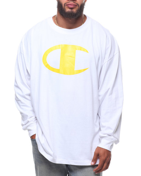 Champion - L/S Large Chest Logo Tee (B&T)