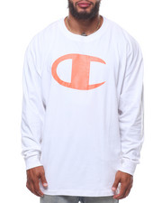 Champion - L/S Large Chest Logo Tee (B&T)-2247144