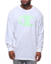 Champion - L/S Large Chest Logo Tee (B&T)-2247159