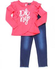 DKNY Jeans - 2 Piece Ruffle Top & Denim Set (4-6X)-2247335